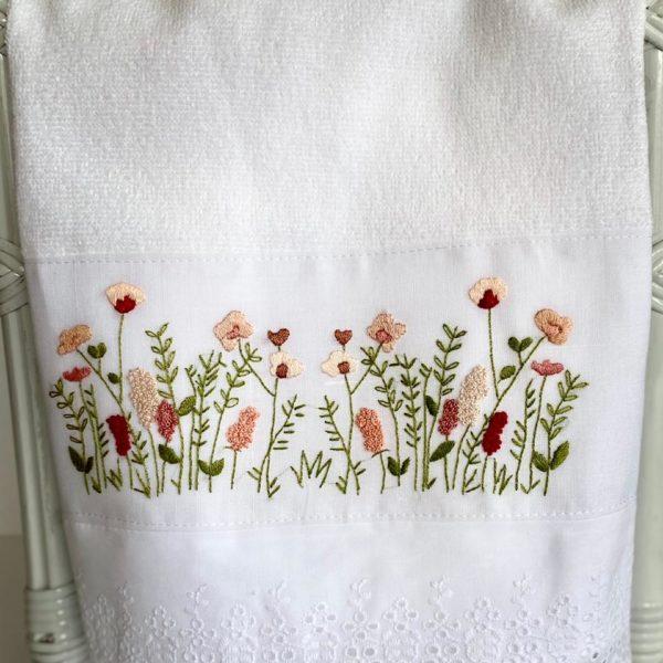 Toalha de Lavabo Flores